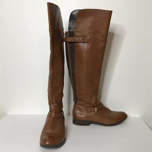 "Bar III Deidre Riding Boots Size 10M Brown 21.5"" T"